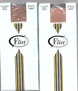 """2 x pairs Tights FLIRT Bamboo up to 42"""" (D)"""