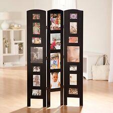 Black Multi Photo Frame 3 Panel Room Divider Home Living Bedroom Furniture Den