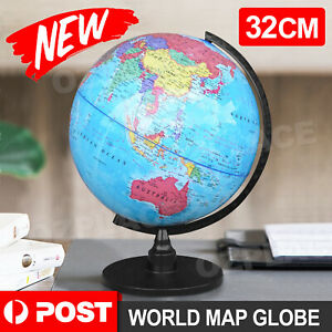 32CM World Globe Rotating Map Earth with Stand Kids Geography Educational Toy
