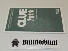 2002 Clue Board Game Replacement Instruction Book Manual Only