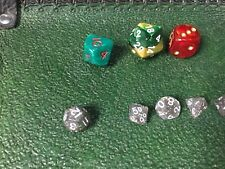 Glitter Silver-White 10MM Mini Polyhedral 7-Die Roleplaying Dice Game Counters