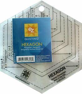 NEW EZ QUILTING Hexagon Ruler