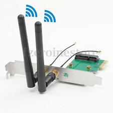 300Mbps DESKTOP PC WIRELESS WIFI PCI-E NETWORK ADAPTER CARD 802.11 N +2 ANTENNAS