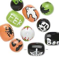 9228 Beads Halloween Glass Mix PK10 *UK EBAY SHOP*
