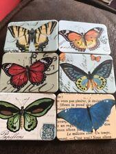 6 BELLA & Colorato a tema farfalla NUOVO Job Lotto collezione di magneti frigo