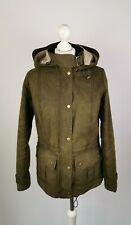 #293 WOMEN'S BARBOUR CONVOY OLIVE WAX PARKA JACKET, UK 10