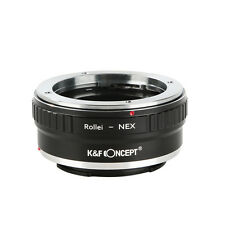K&F Concept Adapter for Rollei QBM Mount Lens to Sony E Mount NEX a5000 A7II A7R