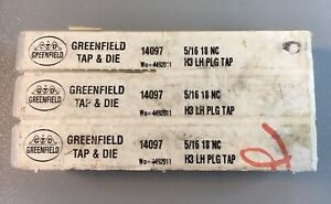 Greenfield Tap and Die 5/16 18 NC 14097 Lot of 3