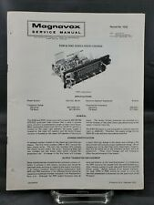 Magnavox Repair Service Parts Manual For 1975 R340 & R341 Series Radio Chassis