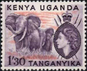 "K.U.T. 1955 QEII  1s.30 Deep Lilac & Orange  ""Elephants""  SG.176 Mint (MNH)"