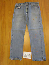 levi 501 destroyed feather USA grunge jean tag 42x34 Meas 37x33.5 20169F