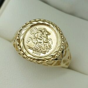 9ct Yellow Gold Saint George Signet Ring, Finger Size S