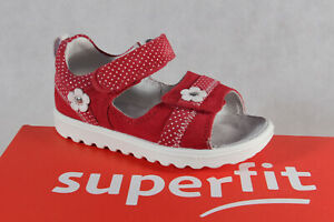 Superfit Girl Walker Sandal Strappy Sandals Leather Red New