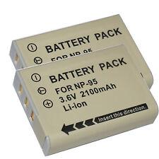 2pcs Li-Ion NP-95 Battery for Fuji Fujifilm X70 X100T X100 X100s X-S1 FinePix