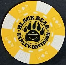 Black Bear Harley Davidson® in Wytheville, Va Collectible Poker Chip Yellow/Whit