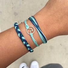 3pcs/Set Rope Braided Friendship Bracelets Wave Unisex Charm Adjustable Bracelet