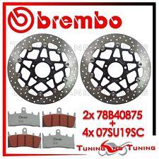 Dischi Freno Anteriore BREMBO + Pastiglie SC SUZUKI GSX-R 1000 2001 01 2002 02