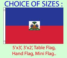 Haiti Flag Choice of Polyester 5x3' 3x2', Hand Flag,Table Flag.Free P&P