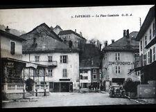 FAVERGES (74) AUTOMOBILES à l'HOTEL DES ALPES & CAFE NEYRET animé , vers 1920