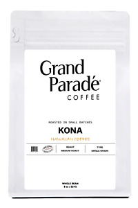100% Hawaiian Pure Kona Medium Roast Coffee Beans, Fresh Roasted Daily, 10oz Bag