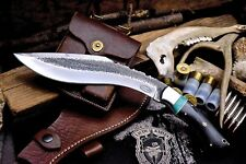 CFK Custom Handmade Hammered 1095 Buffalo Horn Kukri Gurkha Machete Hunter Knife