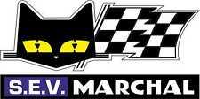 Motorsport Vinyl Stickers Sev Marchal Cat Head & Flag Rally Sponsors Decals