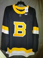 BOSTON BRUINS  2019-2020 3rd Adidas  NHL HOCKEY JERSEY Alternate Size 52 = Large