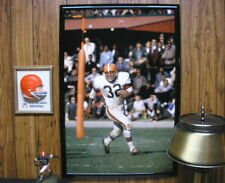 20x30 JIM BROWN 1964 Cleveland Browns Giant color action Poster photo
