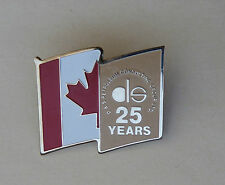D S Petroleum Consulting Group Ltd 25 Years Canadian Flag Lapel Hat Pin