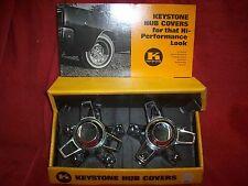 Vintage 1968 NOS Keystone Hub Covers Mag Wheel Center Cap Display Man Cave