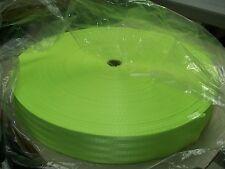 100 MT ROLL 38MM FLURO GREEN SEAT BELT WEBBING