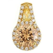 Champagne and yellow Colored CZ Pendant/Slide