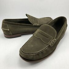 Cole Haan Olive Green Suede Leather Soles Penny Loafers Shoes C11842 Men's 11.5