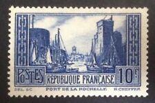 France 1931 10fr Port de la Rochelle type IIA vf MINT hinged SG 474b
