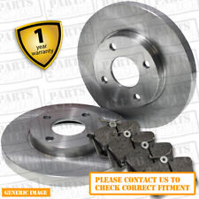 Rear Brake Pads + Brake Discs 260mm Solid For Honda Civic 1.8i-VTEC 1.8 2.2 CTDI
