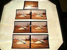 7 Großformat Dias d-edox Flugzeug  Absturz Original Foto   Rar  Fi 42