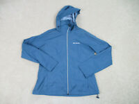 Columbia Jacket Womens Large Blue Gray Full Zip Coat Hooded Hoodie Ladies A31*