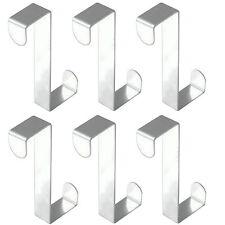 6 Stück Türhaken Kleiderhaken Garderobenhaken Edelstahl Tür Haken Türhänger Tür