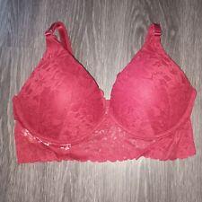 VS pink wireless lace push up bralette NEW black ruby
