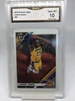 💎 2019-20 Donruss Optic Lebron James #60 Graded GMA GEM MINT 10 Lakers 🔥📈