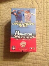 2016 Bowman Chrome Baseball Factory Sealed Hobby Vending Box (3 Autos Per Box)