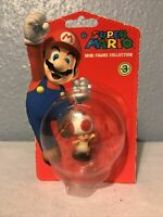 """Nintendo Super Mario Collect Them All Figure 1.5"""" Toad New & Sealed 2010 S3"""