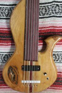 "Bass Fretless 6 String Lobe Wishbass Regular Scale 34"" Soapbar Pickup"