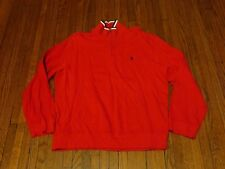 Men's Polo Ralph Lauren Red USA Pouch Track Pullover sz L
