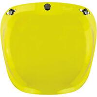 BILTWELL BULLE casque BUBBLE jaune Visière bombée antibuée casque 3 pressions