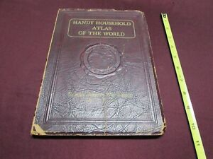 1935  HOUSEHOLD ATLAS of the WORLD -- AFRICAN WAR Ed., Italy vs Ethiopia  VGcond