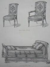Chaise Fauteuil Lit Style Néo-Grec le MAGASIN de MEUBLES Victor QUETIN XIXéme