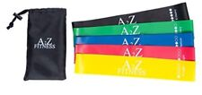 A2Z Fitness Loop Band Set: 5 Exercise Bands w/Carry Case