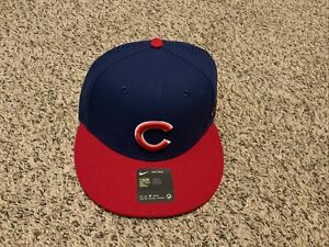 Chicago Cubs Nike Dri-Fi True 1Size Blue/Red Aerobill Adjustable Hat NWT