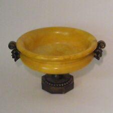 Alabaster Decorative Pedestal  Bowl